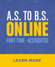 A.S. to B.S. Online - Part-time, Accredited, Learn More