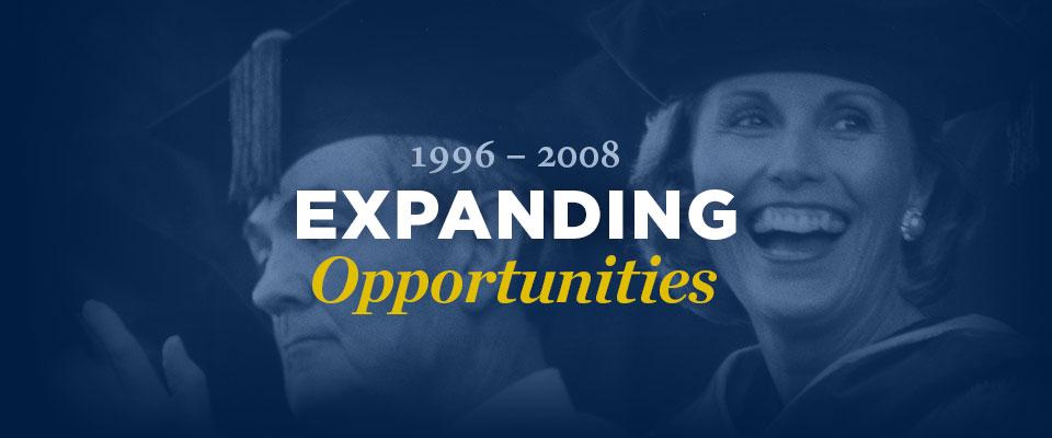 1996-2008, Expanding Opportunities