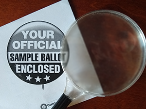 Sample Ballot and Magnifying Glass