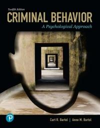 EBK CRIMINAL BEHAVIOR