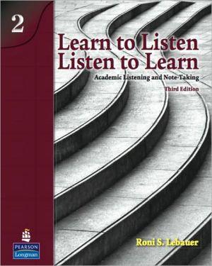 LEARN TO LISTEN,LISTEN TO LEARN 2