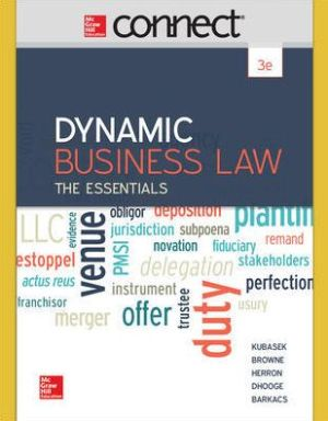 DYNAMIC BUSINESS LAW:ESSENTIALS-ACCESS