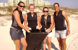 New Smyrna beach cleanup