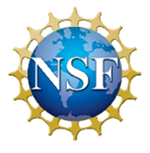 NSF National Science Foundation blue earth with gold sun surrounding earth logo