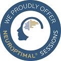 NeurOptimal Blue and White Information Sessions logo