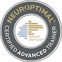 NeurOptimal Certified Advanced Trainer brown and white logo