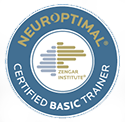 NeurOptimal Certified Trainer Blue and White logo