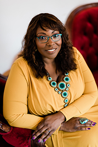 Photo of Dr. Kinitra Brooks who is the Audrey and John Leslie Endowed Chair of Literary Studies at Michigan State University
