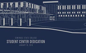 Student Center Dedication invitation